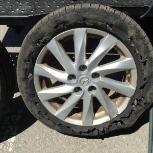 Getting a flat tire is always a pain! If andhellip
