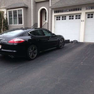 Fresh rubber on a Panamera LowProfile boston tires
