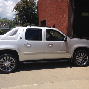 Fresh 22s on a Chevy Avalanche LowProfile tires rims bostonhellip