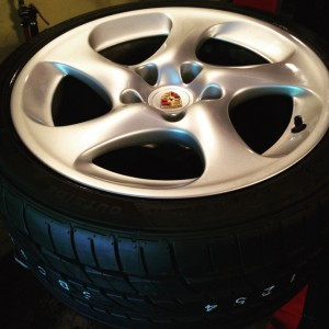 Fresh rubber on a Porsche 911Turbo 2953018 Tires boston InstalledAtHome