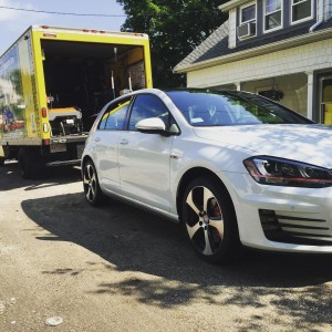 This brand new VW GTI wanted its stock tires offhellip